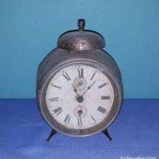 Despertadores antiguos: ANTIGUO RELOJ DESPERTADOR AÑOS 30 PARA DECORACION GRAN TAMAÑO. Lote 180320972