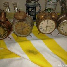 Despertadores antiguos: INCREÍBLE LOTE DE DESPERTADORES. Lote 180402112