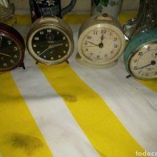 Despertadores antiguos: LOTE 4 DESPERTADORES. Lote 180403502