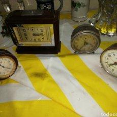 Despertadores antiguos: LOTE 4 DESPERTADORES. Lote 180404417