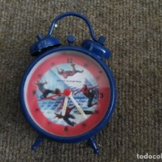 Despertadores antiguos: RELOJ DESPERTADOR SPIDERMAN. Lote 180422235