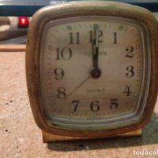 Despertadores antiguos: ANTIGUO DESPERTADOR DE LOS ÑOS 50 O 60 DE LA MARCA EUROPA . Lote 180934480