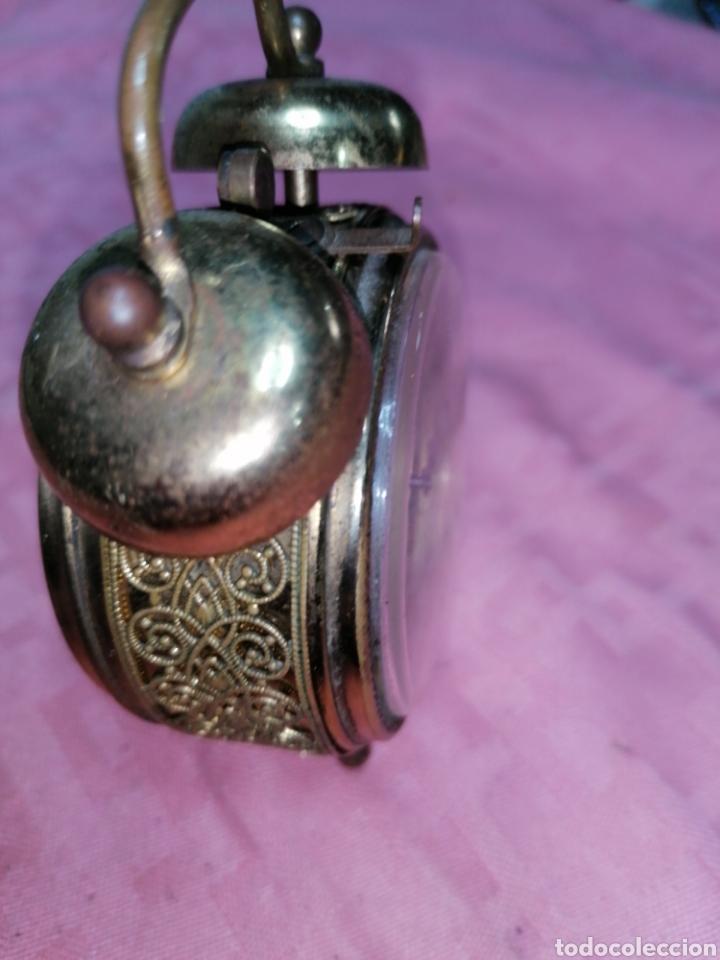 Despertadores antiguos: Reloj despertador de metal funcionando - Foto 4 - 181450965