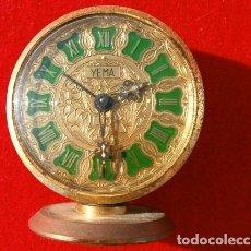 Despertadores antiguos: RELOJ CLASICO DESPERTADOR A CUERDA - MARCA YEMA 6 CM DIAMETRO ESFERA . Lote 181527386