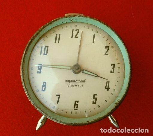 RELOJ CLASICO DESPERTADOR A CUERDA - MARCA GANG 2 JEWELS - SPAIN (Relojes - Relojes Despertadores)