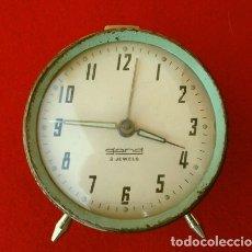 Despertadores antiguos: RELOJ CLASICO DESPERTADOR A CUERDA - MARCA GANG 2 JEWELS - SPAIN. Lote 181528302
