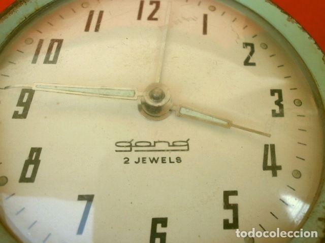Despertadores antiguos: RELOJ CLASICO DESPERTADOR A CUERDA - MARCA GANG 2 JEWELS - SPAIN - Foto 2 - 181528302