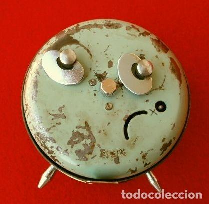 Despertadores antiguos: RELOJ CLASICO DESPERTADOR A CUERDA - MARCA GANG 2 JEWELS - SPAIN - Foto 3 - 181528302