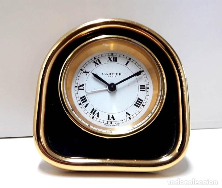 EXCELENTE RELOJ DESPERTADOR CARTIER AÑOS 60 EN MUY BUEN ESTADO (Relojes - Relojes Despertadores)