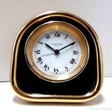 Despertadores antiguos: EXCELENTE RELOJ DESPERTADOR CARTIER AÑOS 60 EN MUY BUEN ESTADO. Lote 182363487