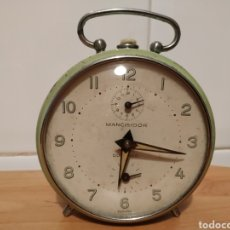 Despertadores antiguos: RELOJ DESPERTADOR MANCISIDOR DURANGO, RUBIS. Lote 182513101