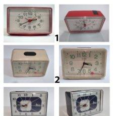 Despertadores antiguos: LOTE RELOJES DESPERTADORES AVERIADOS. Lote 182731373
