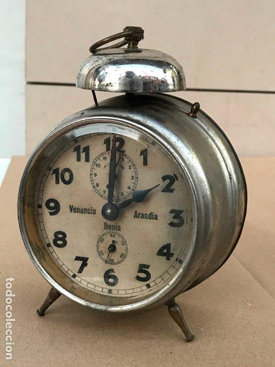 Despertadores antiguos: Reloj despertador Venancio Arandia Denia - Marcado M&C.B - Funcionando - Foto 2 - 182808825