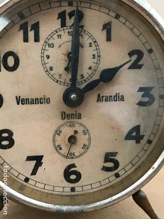 Despertadores antiguos: Reloj despertador Venancio Arandia Denia - Marcado M&C.B - Funcionando - Foto 3 - 182808825