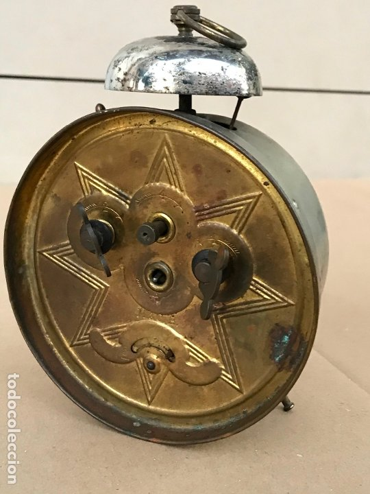 Despertadores antiguos: Reloj despertador Venancio Arandia Denia - Marcado M&C.B - Funcionando - Foto 4 - 182808825