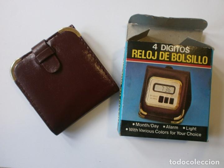 Despertadores antiguos: RELOJ DE BOLSILLO CON ALARMA EN PIEL NUEVO MULUPA - Foto 2 - 182950576