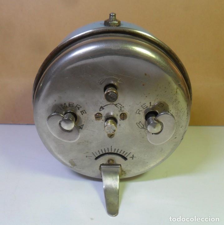 Despertadores antiguos: DESPERTADOR MECANICO – ESPADA FRERES ** FUNCIONA - Foto 3 - 182952191