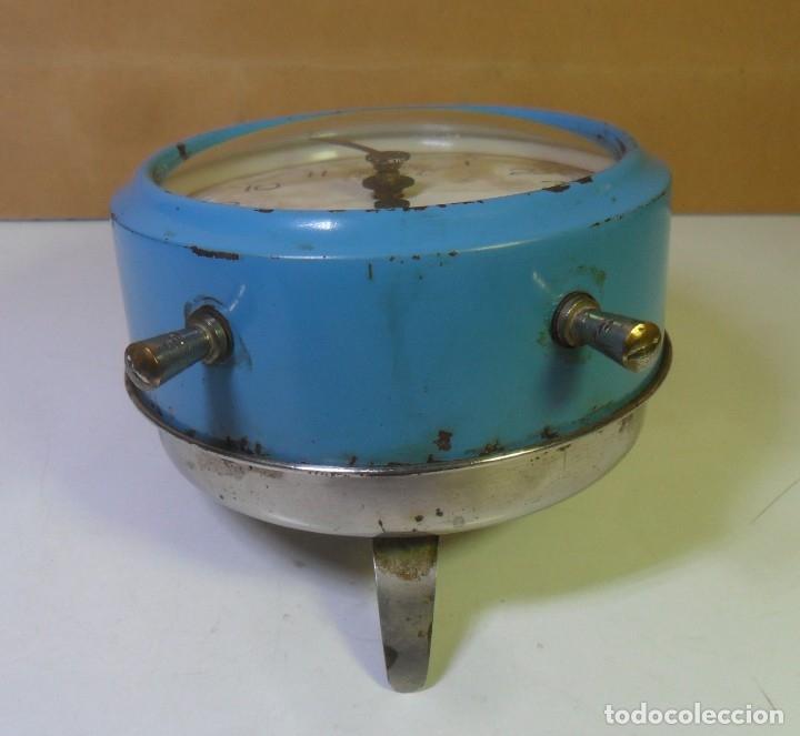 Despertadores antiguos: DESPERTADOR MECANICO – ESPADA FRERES ** FUNCIONA - Foto 6 - 182952191