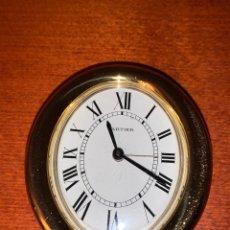 Despertadores antiguos: MAGNÍFICO RELOJ DESPERTADOR DE QUARZ CARTIER. Lote 183408248