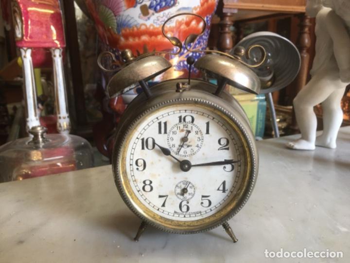 RELOJ DESPERTADOR ALEMÁN, DE LA DÉCADA DE LOS 20/30, FUNCIONANDO (Relojes - Relojes Despertadores)