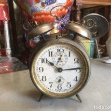 Despertadores antiguos: RELOJ DESPERTADOR ALEMÁN, DE LA DÉCADA DE LOS 20/30, FUNCIONANDO . Lote 183471727