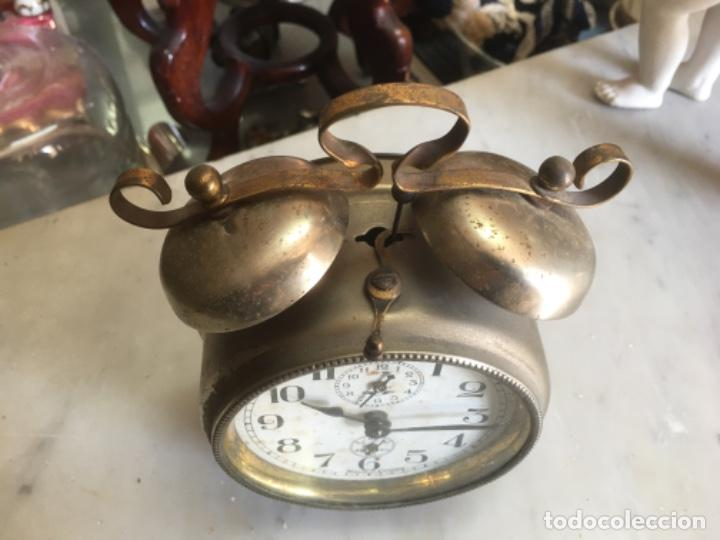 Despertadores antiguos: Reloj despertador alemán, de la década de los 20/30, funcionando - Foto 2 - 183471727