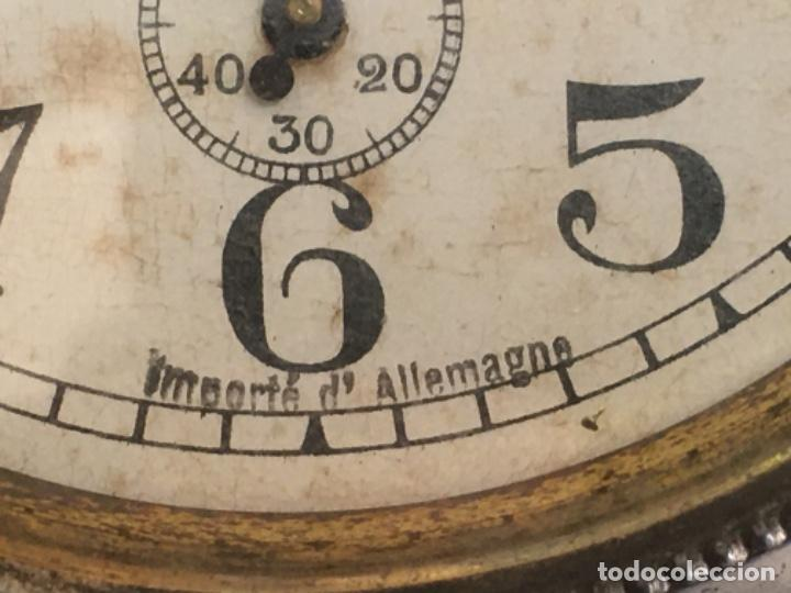 Despertadores antiguos: Reloj despertador alemán, de la década de los 20/30, funcionando - Foto 6 - 183471727