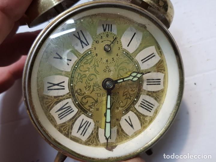 Despertadores antiguos: Reloj despertador doble campana PETER Alemán funcionando - Foto 5 - 184054072