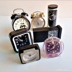 Despertadores antiguos: LOTE DE 7 RELOJES VARIOS DESPERTADORES. Lote 184492115