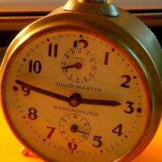 Despertadores antiguos: DESPERTADOR ESPAÑOL - SANCHONUÑO. TESTADO Y FUNCIONANDO. AÑOS 50. DESCRIPCION Y FOTOS.. Lote 184785186