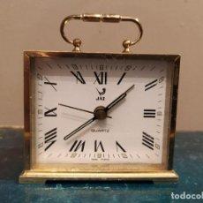 Despertadores antiguos: RELOJ DESPERTADOR JAZ - TIPO CARRUAJE . Lote 184795060