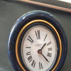 Despertadores antiguos: RELOJ SOBREMESA CARTIER VIAJE ALARMA. Lote 184930818