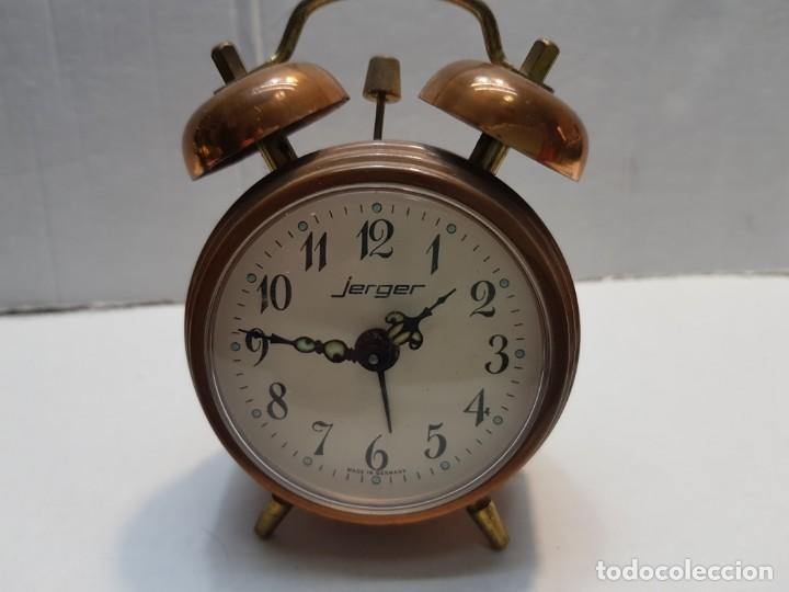 RELOJ DESPERTADOR DOBLE CAMPANA JERGER MADE IN GERMANY (Relojes - Relojes Despertadores)