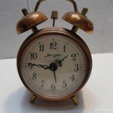 Despertadores antiguos: RELOJ DESPERTADOR DOBLE CAMPANA JERGER MADE IN GERMANY . Lote 189668892