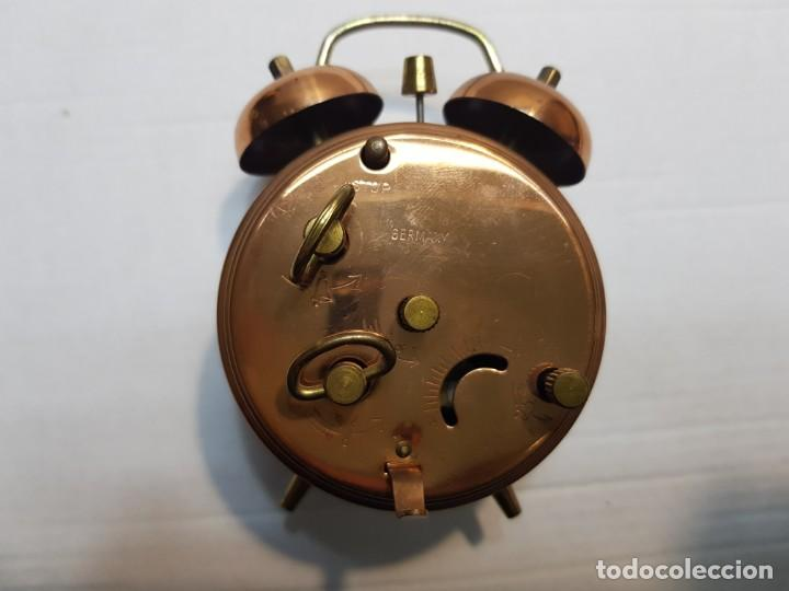 Despertadores antiguos: Reloj despertador doble Campana Jerger Made IN Germany - Foto 2 - 189668892