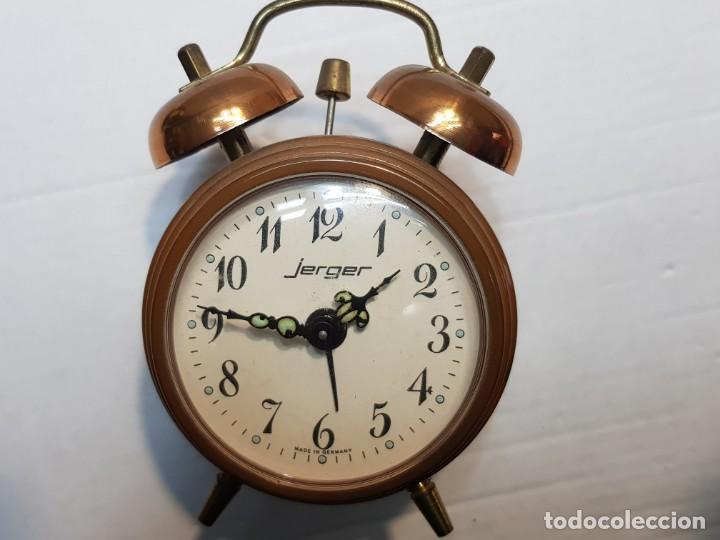 Despertadores antiguos: Reloj despertador doble Campana Jerger Made IN Germany - Foto 5 - 189668892