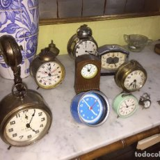 Despertadores antiguos: VARIOS RELOJES DE MESA DESPERTADOR. CONSULTAR PRECIO. Lote 190517878