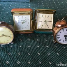 Despertadores antiguos: CUATRO DESPERTADORES. Lote 190591210