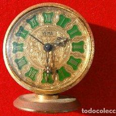 Despertadores antiguos: RELOJ CLASICO DESPERTADOR A CUERDA - MARCA YEMA 6 CM DIAMETRO ESFERA. Lote 190833438