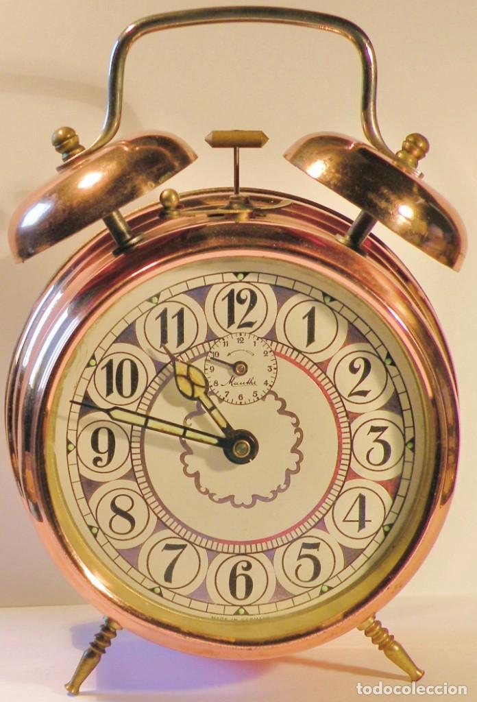 RELOJ DESPERTADOR MAUTHE DOBLE CAMPANA GRANDE (Relojes - Relojes Despertadores)