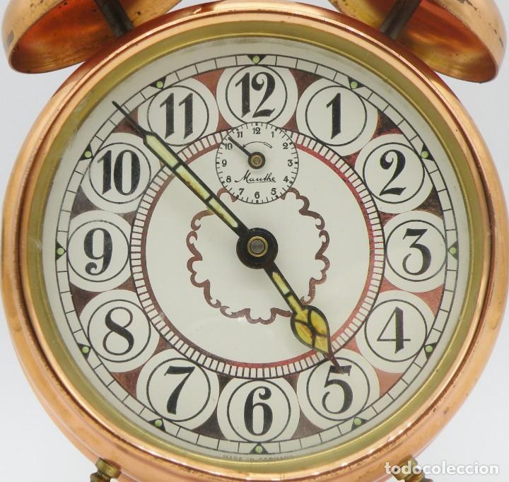 Despertadores antiguos: RELOJ DESPERTADOR MAUTHE DOBLE CAMPANA GRANDE - Foto 3 - 190842826