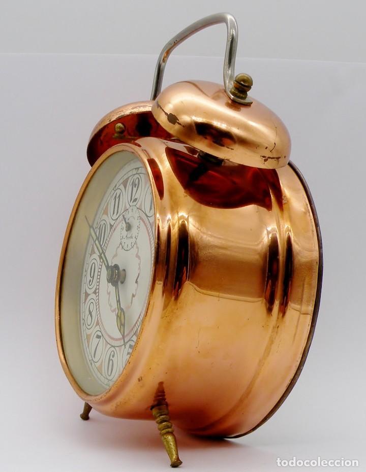 Despertadores antiguos: RELOJ DESPERTADOR MAUTHE DOBLE CAMPANA GRANDE - Foto 4 - 190842826