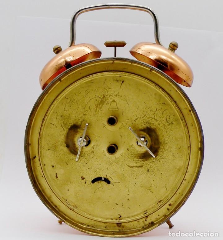 Despertadores antiguos: RELOJ DESPERTADOR MAUTHE DOBLE CAMPANA GRANDE - Foto 5 - 190842826