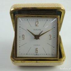 Despertadores antiguos: RELOJ DESPERTADOR DE VIAJE - EUROPA 2 JEWELS - AÑOS 60 - GERMANY. Lote 191227746