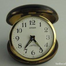 Despertadores antiguos: RELOJ DESPERTADOR DE VIAJE - CITIZEN 2 JEWELS - AÑOS 60 - JAPÓN . Lote 191228358