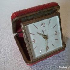 Despertadores antiguos: RELOJ DESPERTADOR EUROPA 2 JEWELS. Lote 191525523