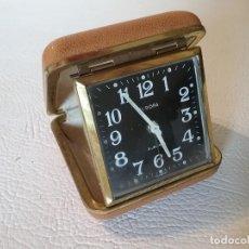 Despertadores antiguos: RELOJ DESPERTADOR DE VIAJE EUROPA 2 JEWELS.. Lote 191526196