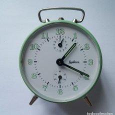 Despertadores antiguos: DESPERTADOR MECANICO MARCA REGULADORA NOS (NEW OLD STOCK) CON CAJA. Lote 191618376