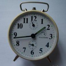 Despertadores antiguos: DESPERTADOR MECANICO MARCA REGULADORA NOS (NEW OLD STOCK) . Lote 191618813