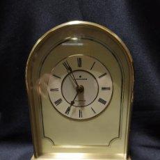 Despertadores antiguos: JUNGHANS RELOJ DESPERTADOR DE SOBREMESA BRONCE VINTAGE FUNCIONA PERFECTO . Lote 192081258